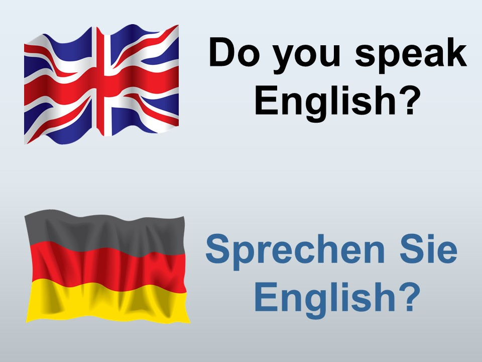 Do you speak English in German