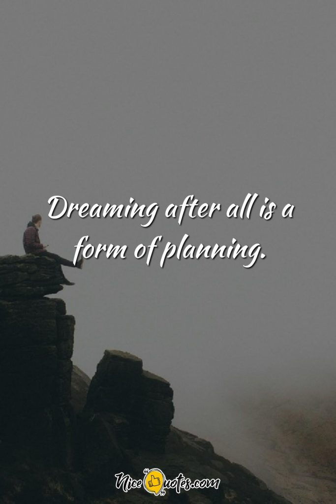 Dreaming after all is a form of planning