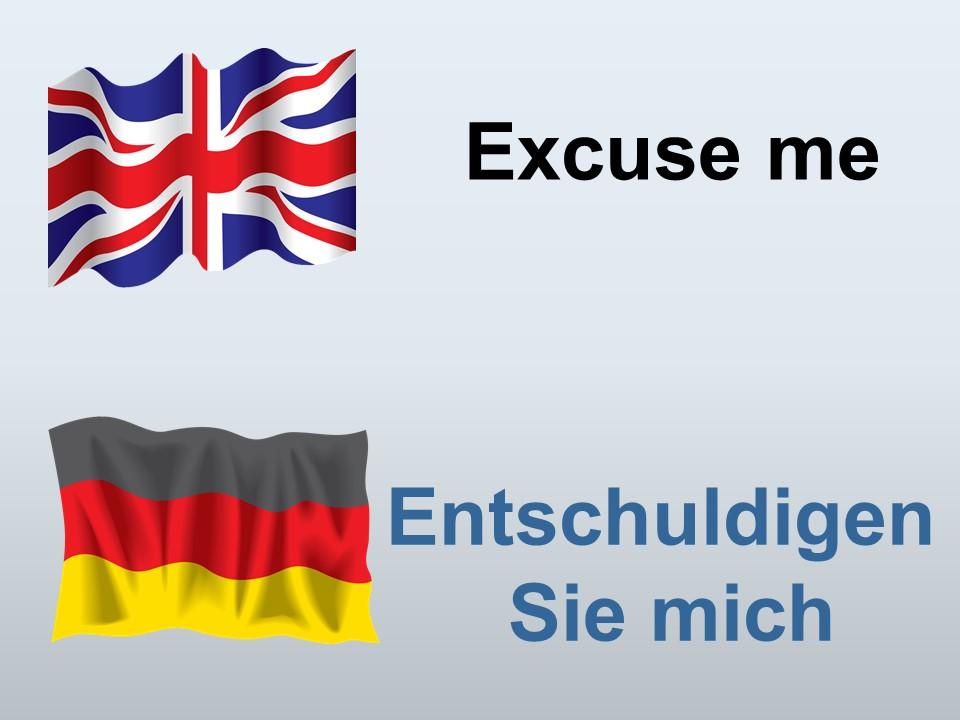 Excuse me in German