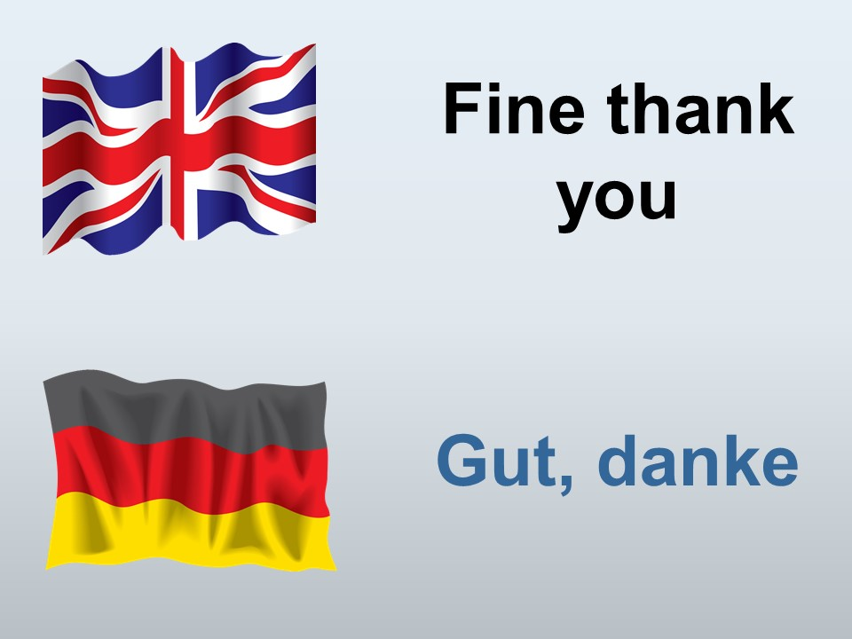 Fine thank you in German