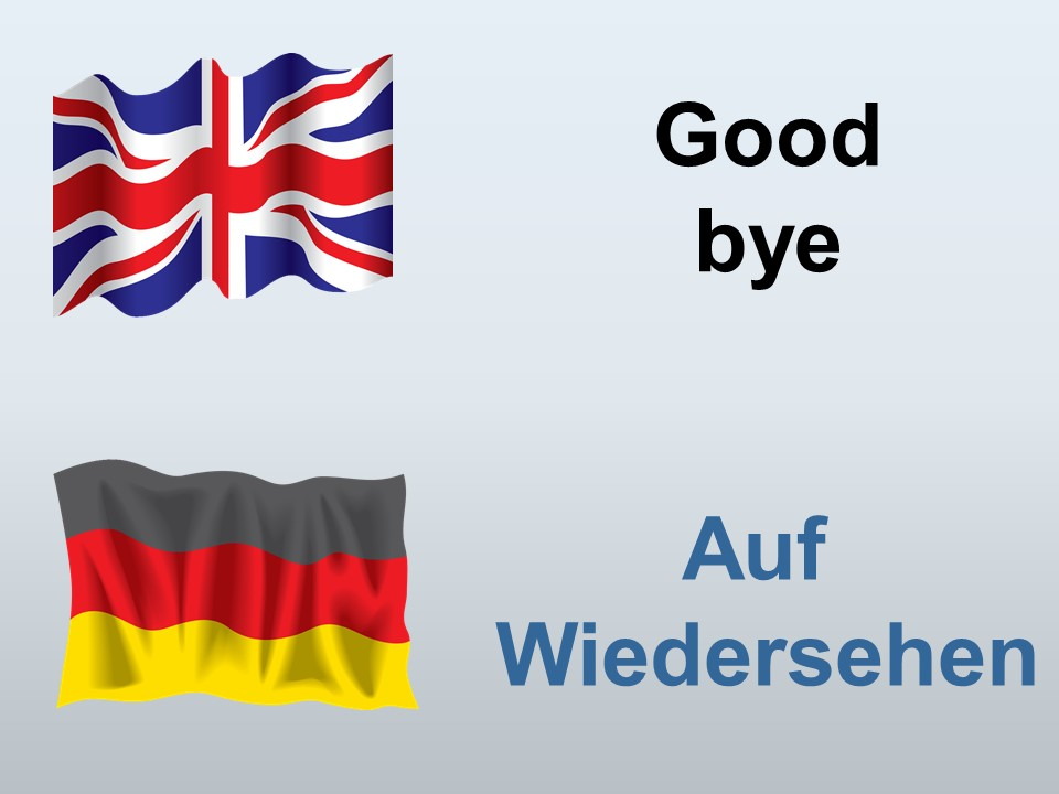 Good bye in German