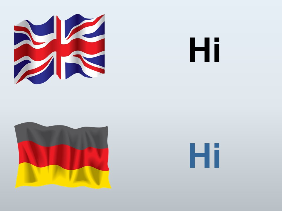 Hi English to German