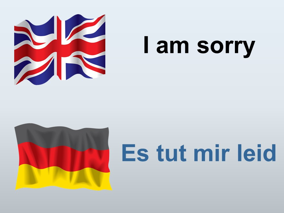 I am sorry in German