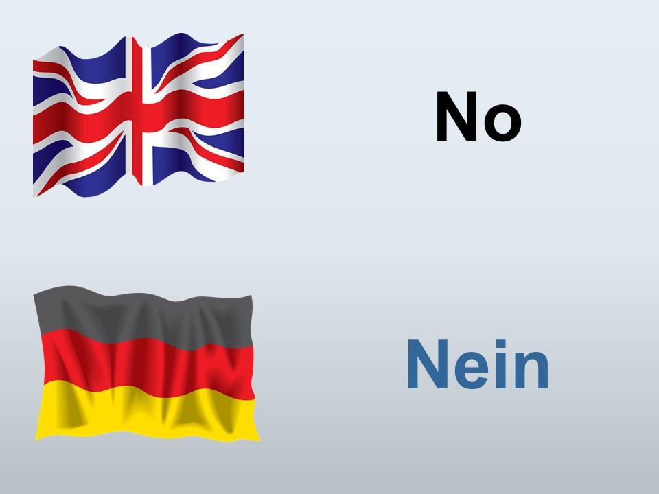No in German