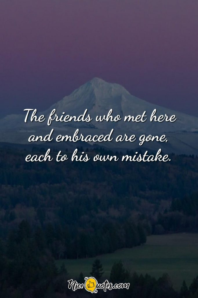 The friends who met here and embraced
