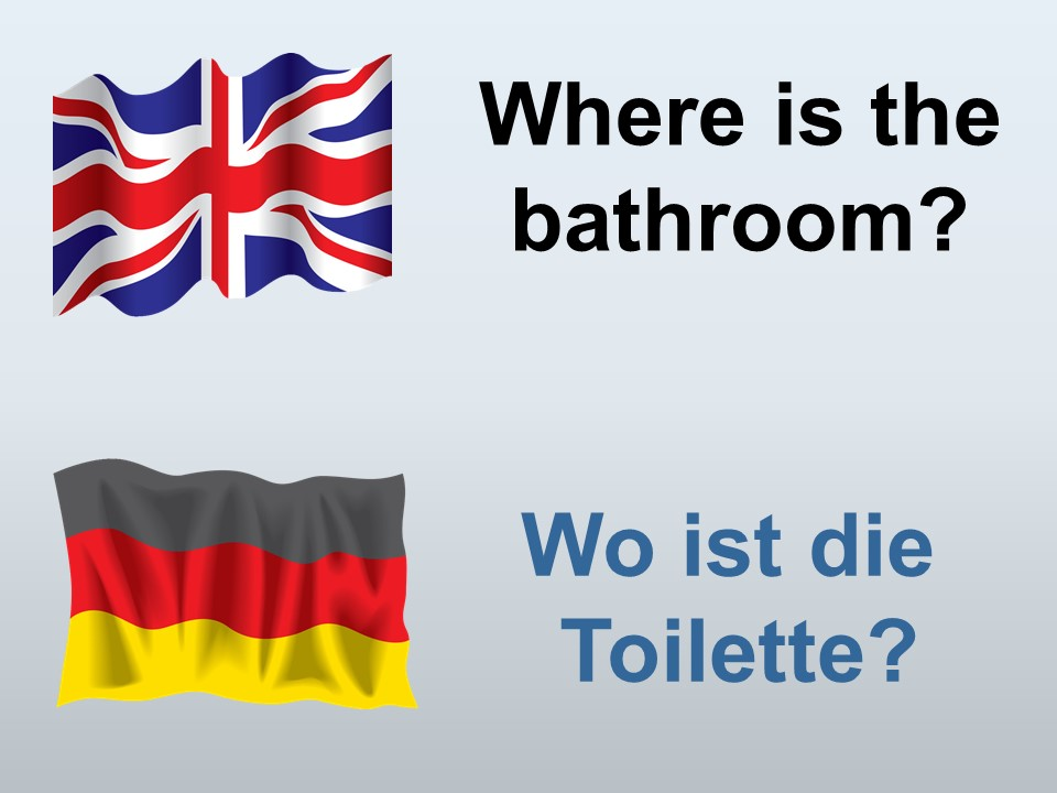 How to say, Where is the bathroom in German