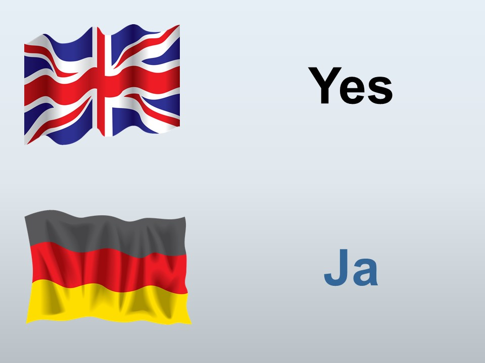 Yes in German
