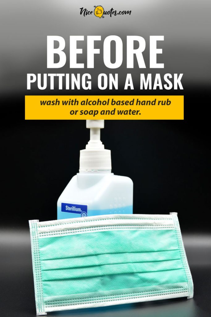 Before-putting-on-a-mask-use-a-sanitizer