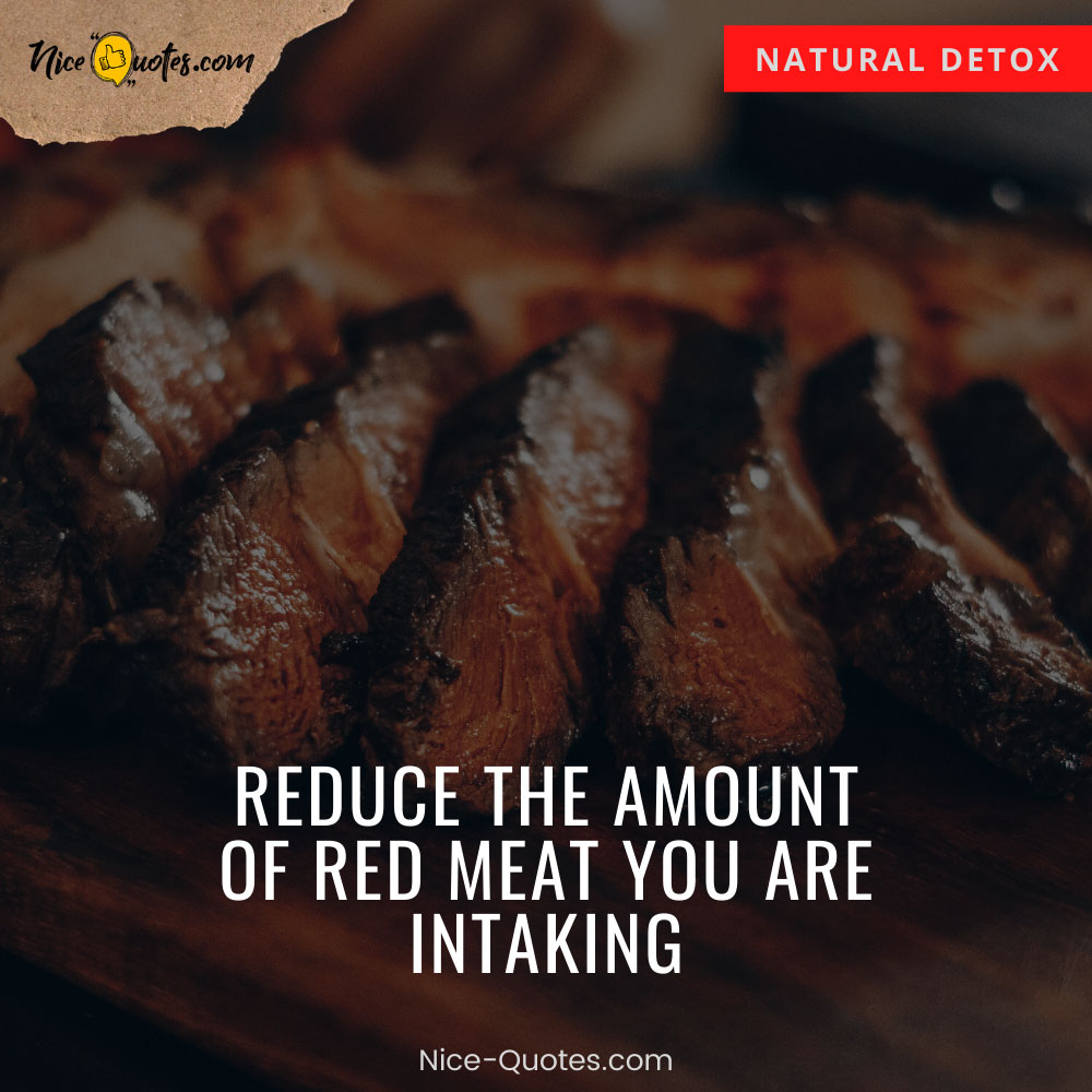 Reduce the amount of red meat
