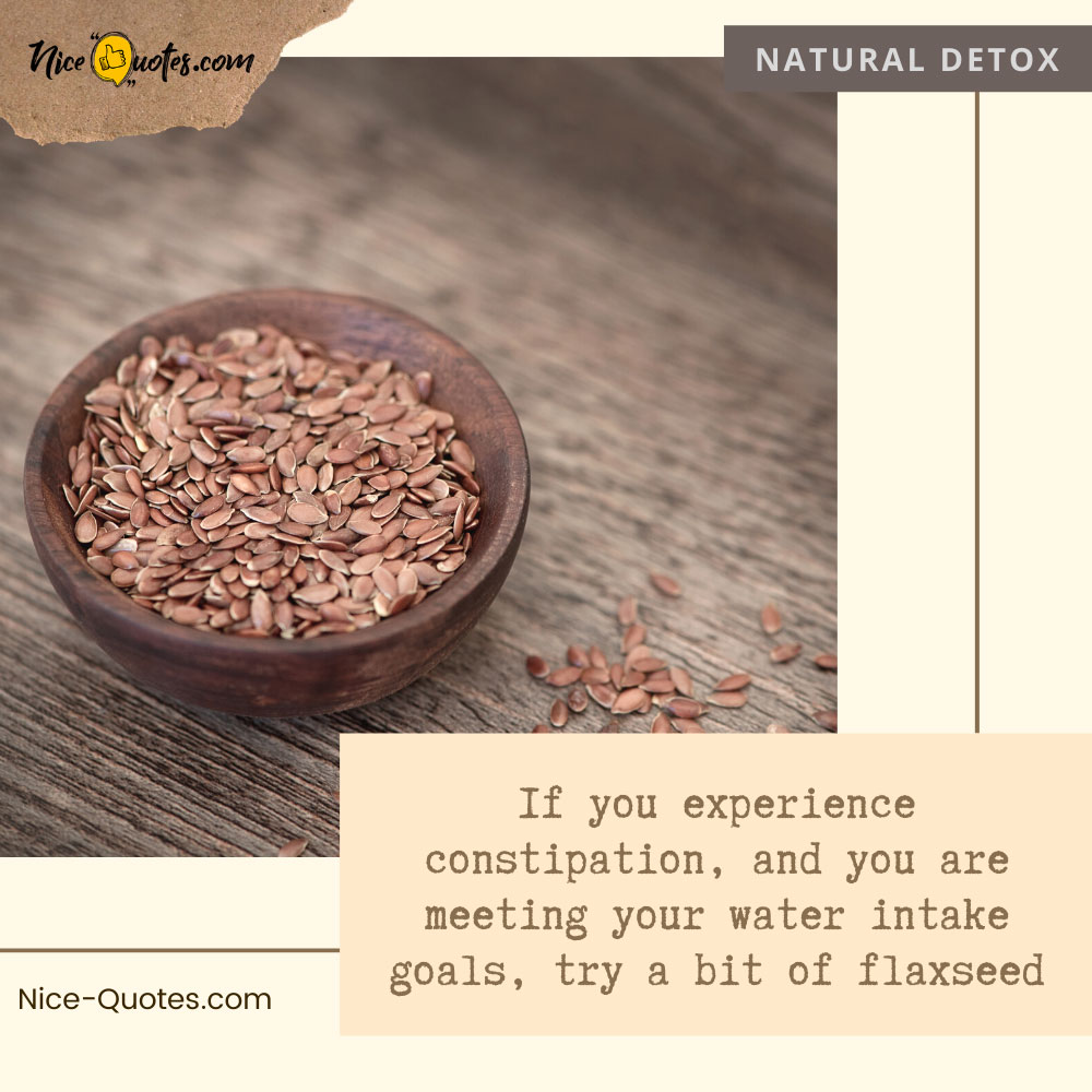 constipation relief with flaxseed